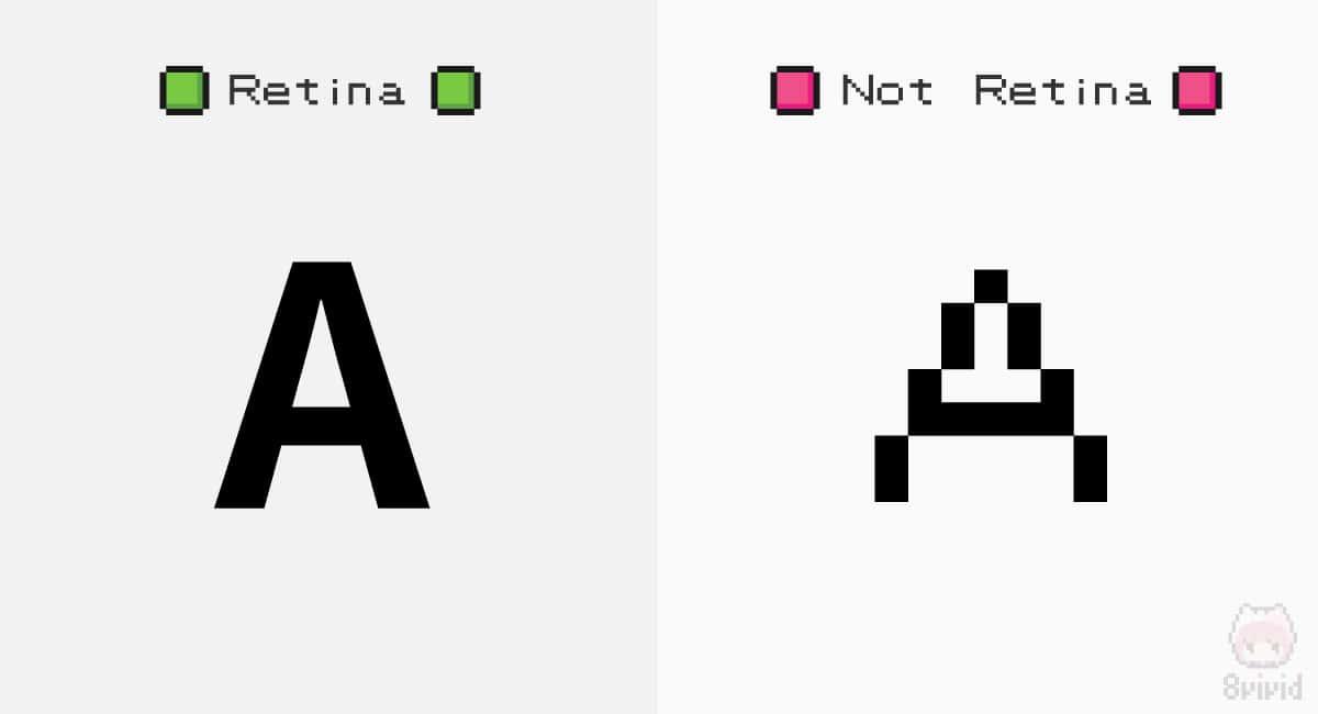 Retinaはフォントが滑らかで美しい。