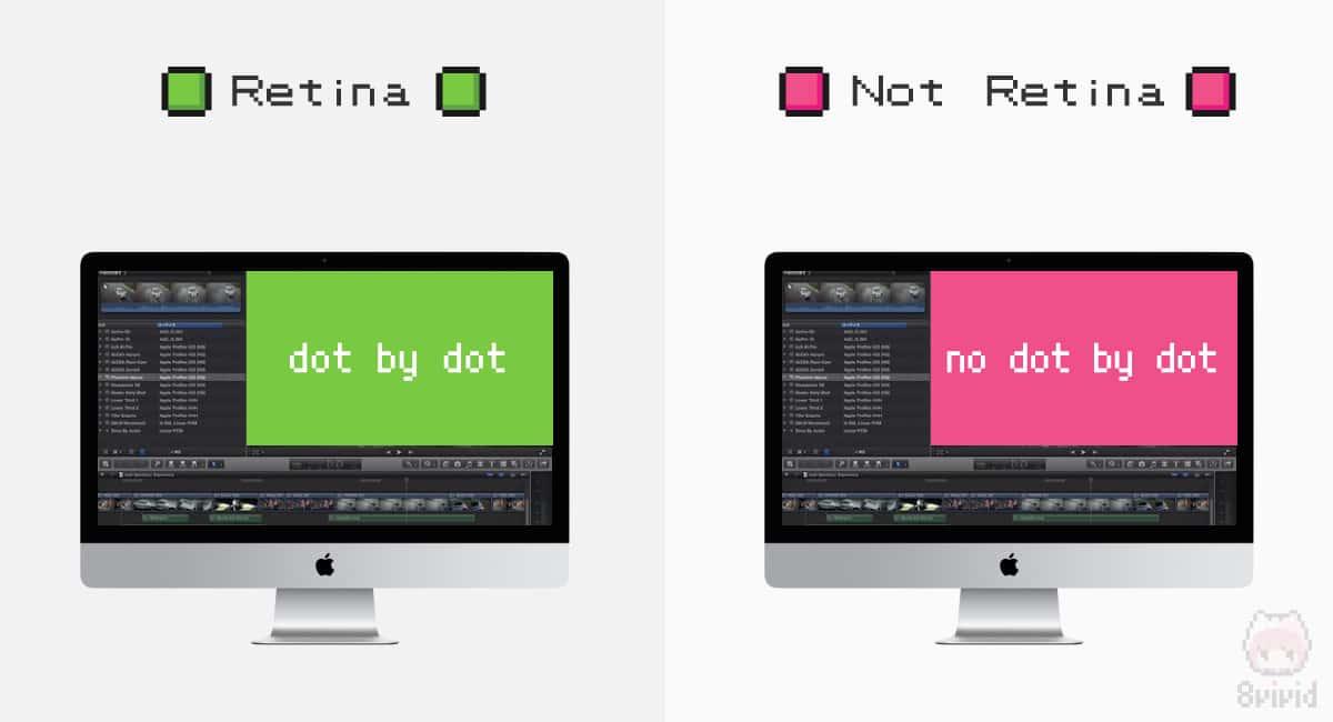 一部アプリケーションは、画面の一部のみドットバイドット表示が可能。