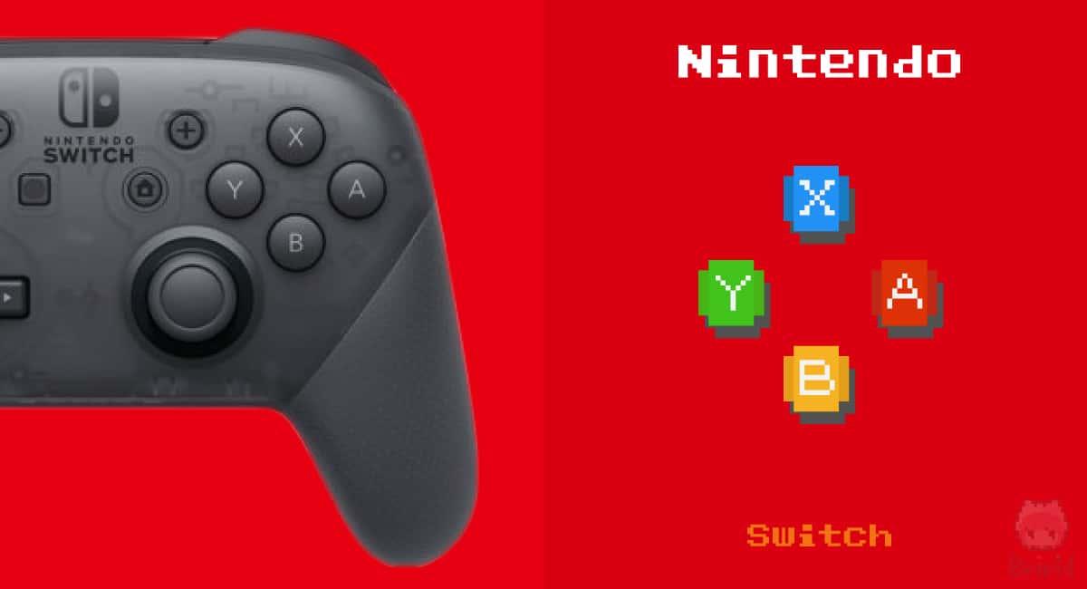 Nintendo Switchコントローラーの右ボタン。