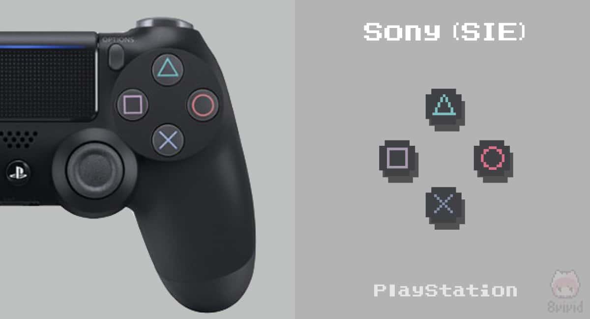 PlayStation 4コントローラーの右ボタン。