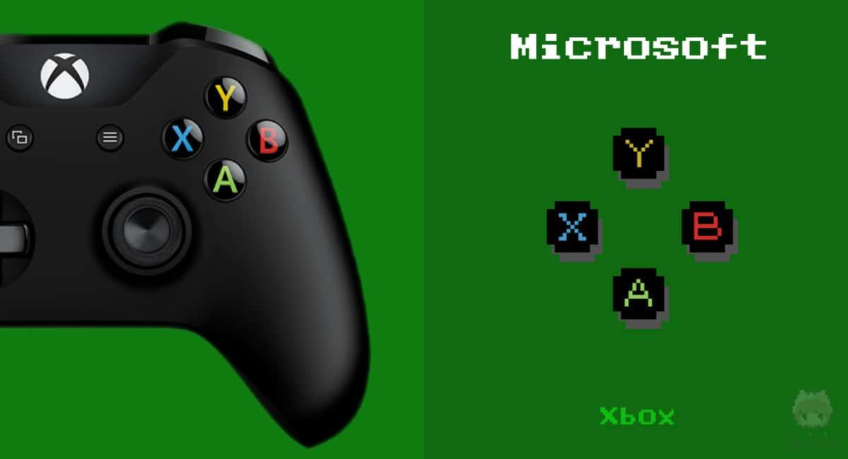 Xbox Oneコントローラーの右ボタン。