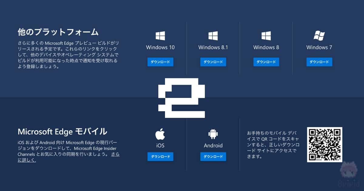 Microsoft Edgeの製品版としては、Windows・iOS・Android向けにリリース。