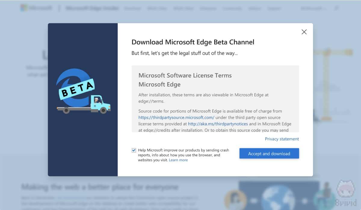 Microsoft Edge Beta Update 77.0.235.9でテスト。