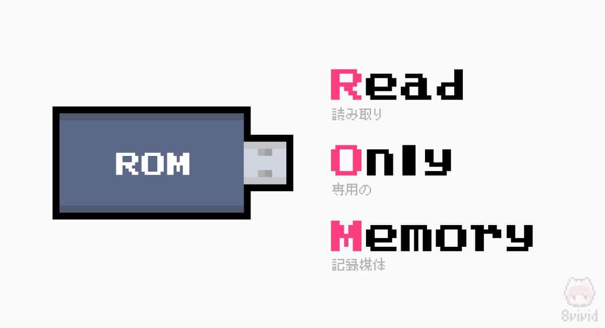ROMとはRead Only Memoryの略。