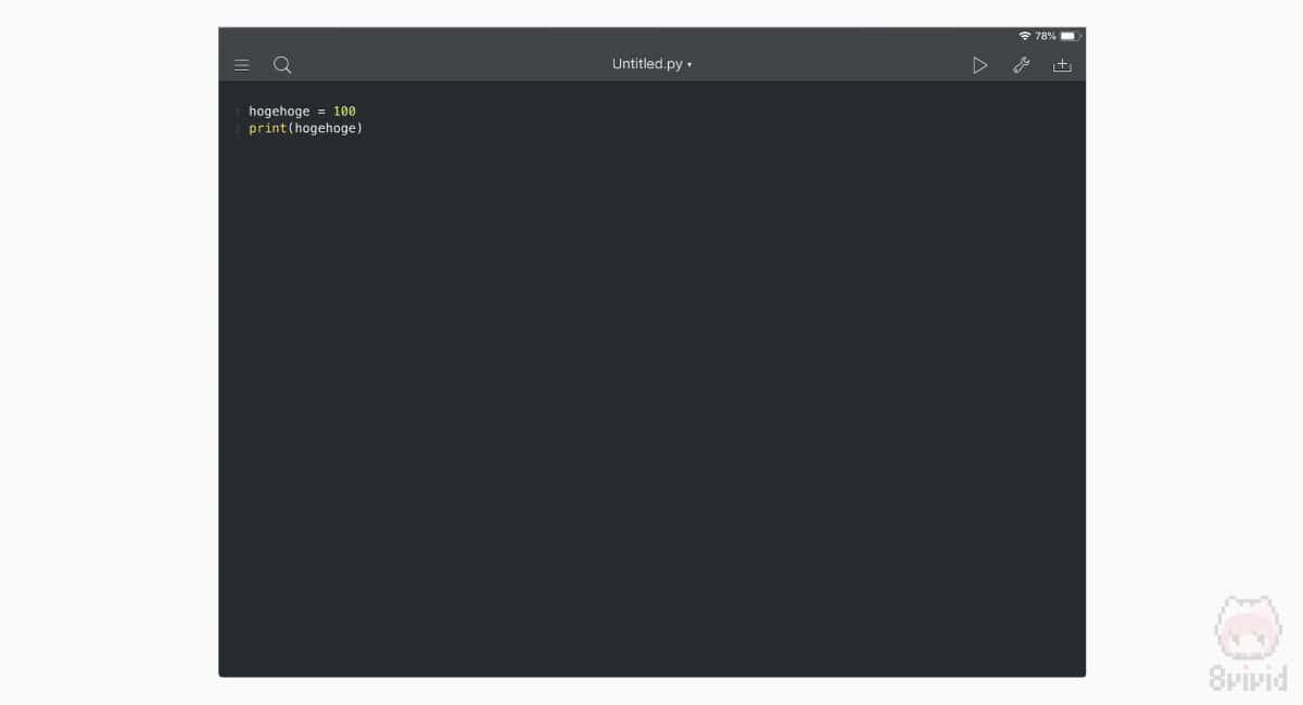 Pythonista 3。