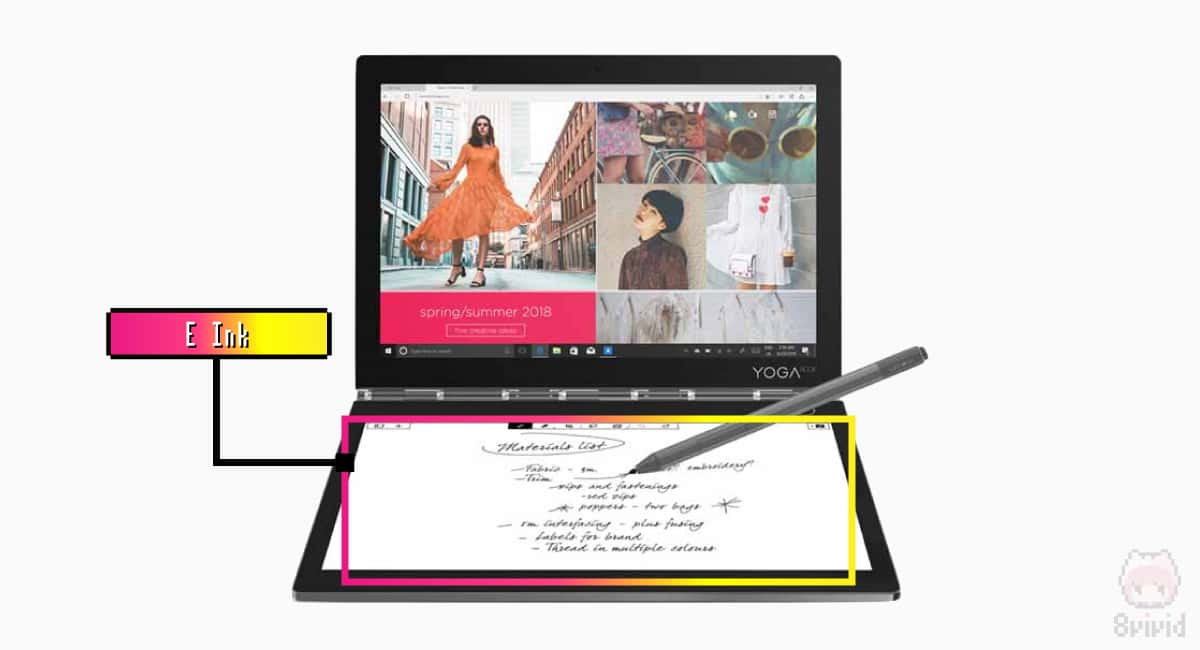 E Ink搭載でハードウェアポインティングデバイスとは一線を画する。