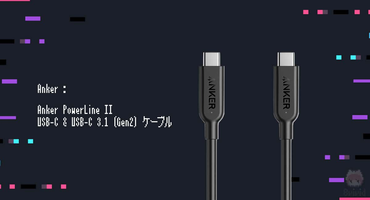 【候補1】Anker『Anker PowerLine II USB-C & USB-C 3.1 (Gen2) ケーブル』