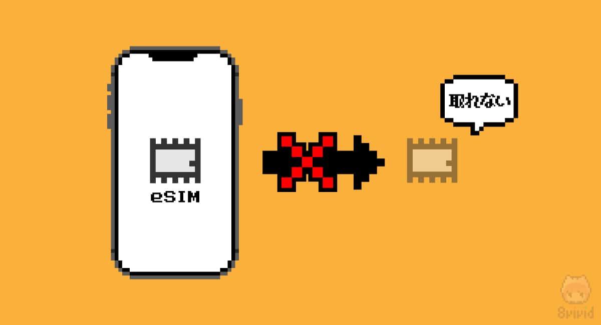 【デメリット1】SIMカードのような抜き差し不可