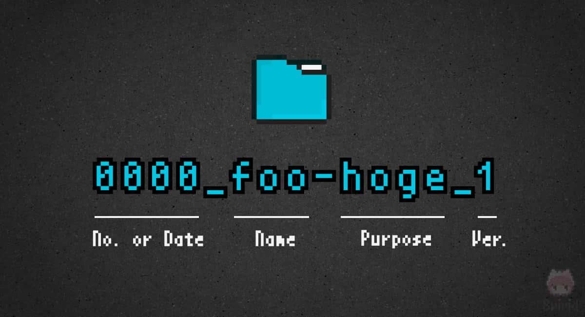 現在利用中のファイル・フォルダーの命名規則。